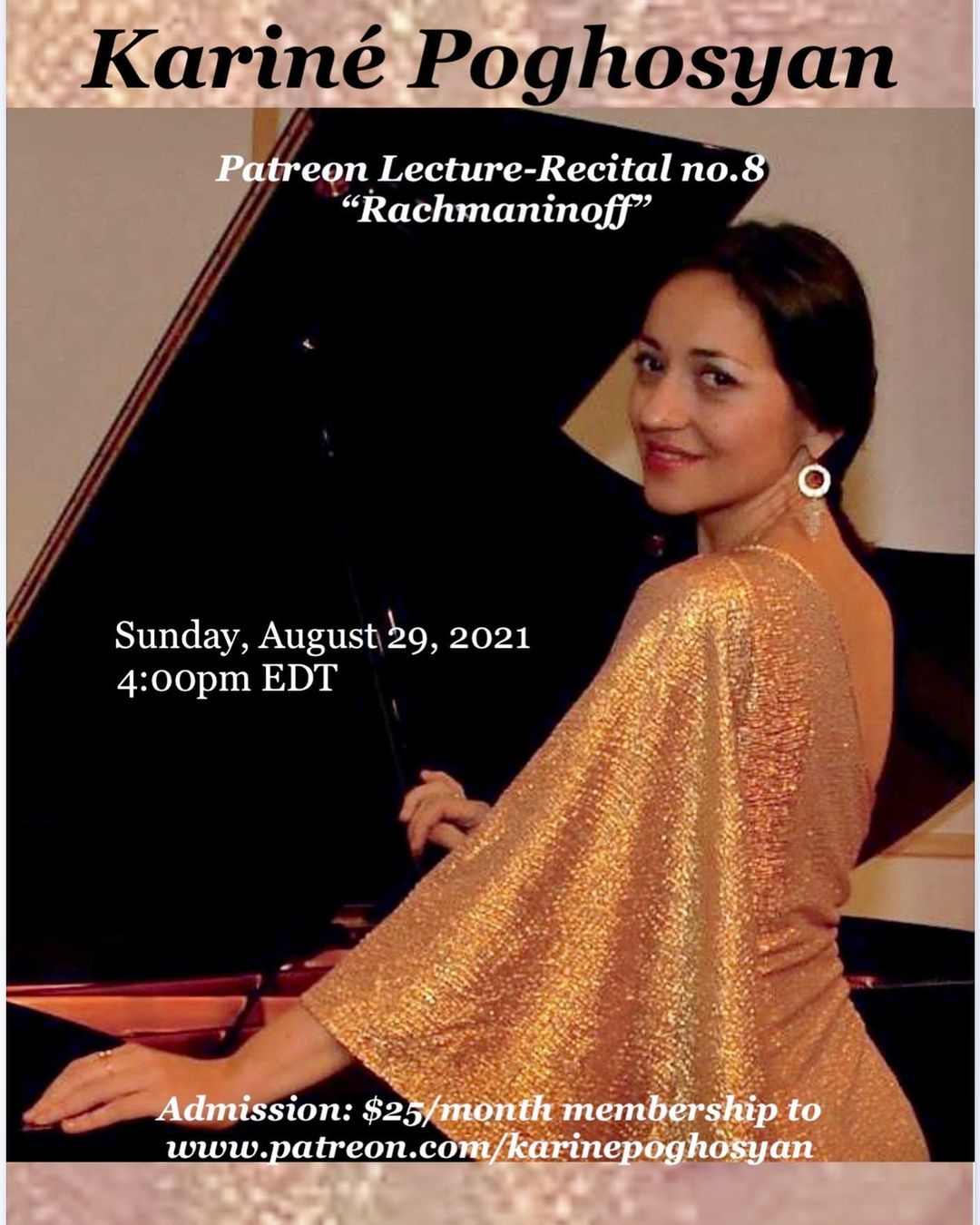 Concert Pianist   New York   Isolation Concerts   Karine Poghosyan